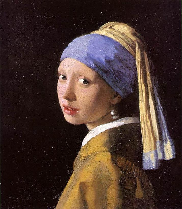 La joven con el arete de perla. Johannes Vermeer